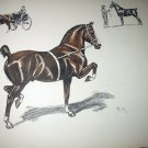 The Hackney Horse-Edwin Megargee Original Vintage Lithograph Print