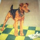 Airedale Dog-Diana Thorne-Vintage Lithograph-Backside is Scotch Terriers