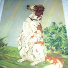 Old Setter Dog-Diana Thorne-Vintage Lithograph-Backside is Cocker Spaniel