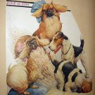 1926 Vntg Magazine Cover Artwork-Robert Dickey-Dogs Digging in Sand
