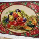 Southern Fruits Still Life Antique Chromolithograph print,Bowl of Various Edible Fruit