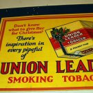 Union Leader Smoking Tobacco Advertising Lrg Poster Board Original Vntg Holiday Store Display