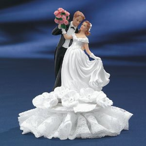 Romantic Bride & Groom Wedding Cake Topper Ornament