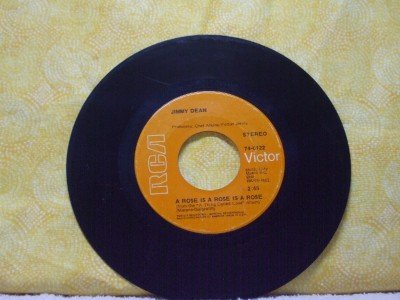 JIMMY DEAN A Rose Is A Rose Is A Rose She's Mine 1969 RCA Victor Records 0122