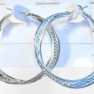 Silver Tone Twisted Fashion Stud Hoop Earrings Very Elegant