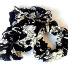 Lot 3 Scrunchies Pony Tail Holder Hair Twister Black White