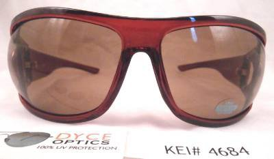 DYCE OPTICS Large Designer Oversized Fashion Sunglasses Red Brown NWT