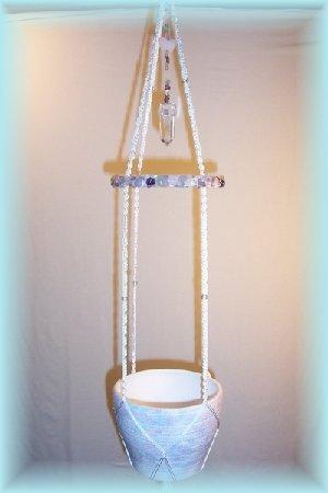 Mixed Gemstones Plant Hanger