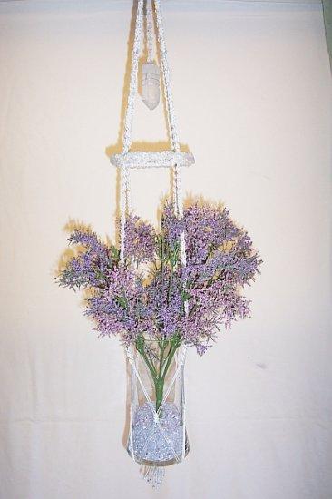 Hanging Clear Quartz Collage Vase