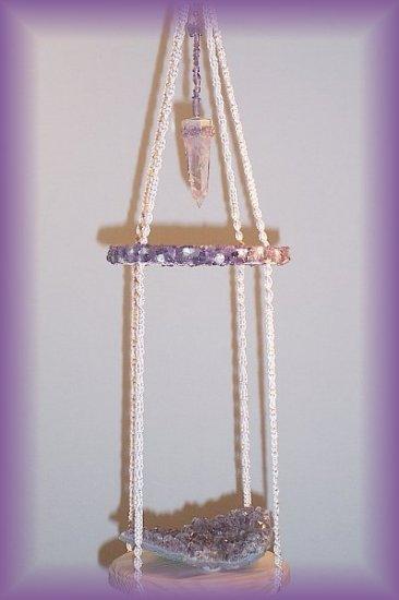 Hanging Amethyst Display Shelf (ecru)