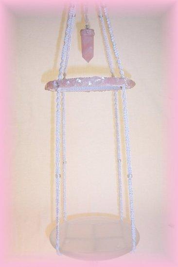 Hanging Rose Quartz Display Shelf
