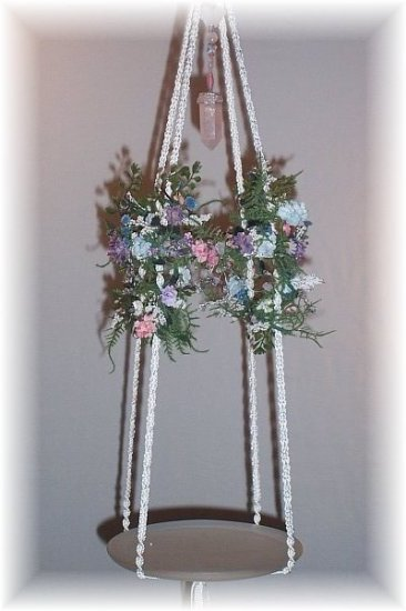 Hanging Floral & Crystals Fairy Display Shelf