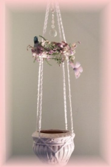 Austrian Crystal with Birds & Butterfly Plant Hanger
