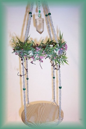 Hanging Natural Twine Fairy Display Shelf