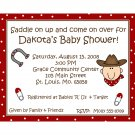20 Personalized Baby Shower Invitations - Little Cowboy