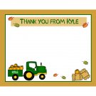 20 Personalized Thank You Cards - Fall Party - Tractor
