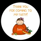 12 Round Stickers 2.5 inches LITTLE PUMPKIN PARTY