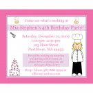 20 Personalized Birthday Invitations - Little Chef