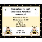20 Personalized Birthday Invitations  - LITTLE BUMBLE BEE