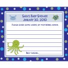 24 Baby Shower Advice Cards  UNDER THE SEA