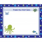 20 Personalized Baby Shower Thank You Cards UNDER THE SEA