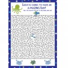 24 Personalized Baby Shower Maze Game  Cards   UNDER THE SEA