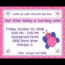 20 Personalized Butterfly BIrthday Invitations