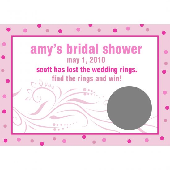 24 Personalized Bridal Shower Scratch Off Cards - MODERN BRIDE DESIGN PINKS