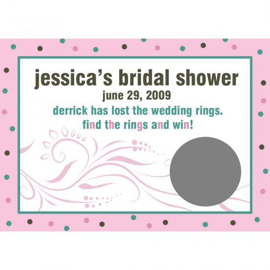 24 Personalized Bridal Shower Scratch Off Game Cards  - MODERN BRIDE