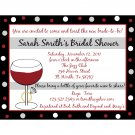 20 Personalized Bridal Shower Invitations Wine and Ring
