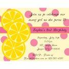 20 Personalized Birthday Invitations - Sweet Lemonade
