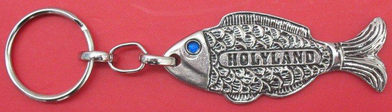 Fish symbolic Israel keychain jewish fertility and success blessing