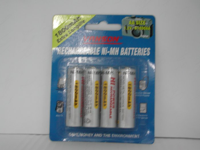Vanson Rechargeable Battery (750mAh with 3A size)