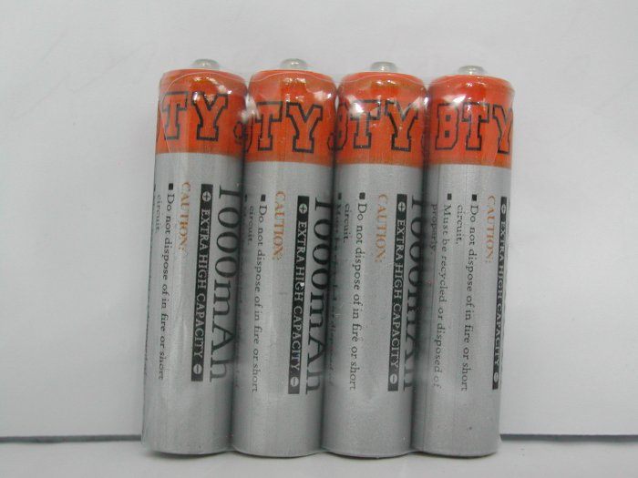 BTY Rechargeable Battery AAA size 1000mAh