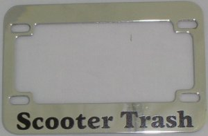 Lpf 2003 Scooter Trash Chrome Billet Metal Motorcycle License