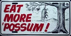 LP-374 Eat More Possum License Plate