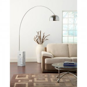 Arco Style Marble Base Floor Lamp
