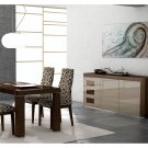 Irene-Ada Modern 5pc Dining Room Set in Glossy Finish ESF