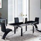 Global Furniture 5pc Dining Room Set GL-D88DT-BL