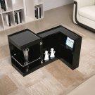 P205B Black Gloss End Table/ Mini Bar