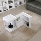 P205B White Gloss End Table/ Mini Bar
