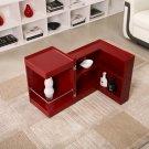 P205B Red Gloss End Table/ Mini Bar
