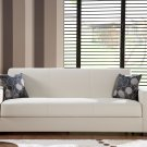 Kobe Sofa Bed with Storage in Cream PU