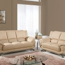 9908 2pc Cappuccino Bonded Leather Living Room Set