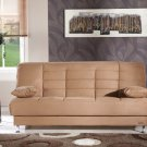 Vegas Brown Microfiber Sofa Bed with Storage