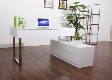 Modern Office Desk with Drawers