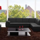 Canal Black Italian Leather Sectional