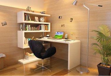 Urban Modern Desk With Shelf Space