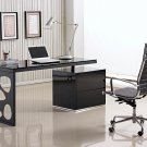 Porter Black lacquer Modern Office Desk