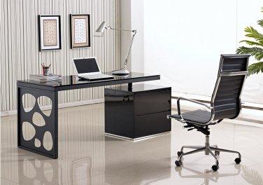 Porter Black lacquer Modern Office Desk